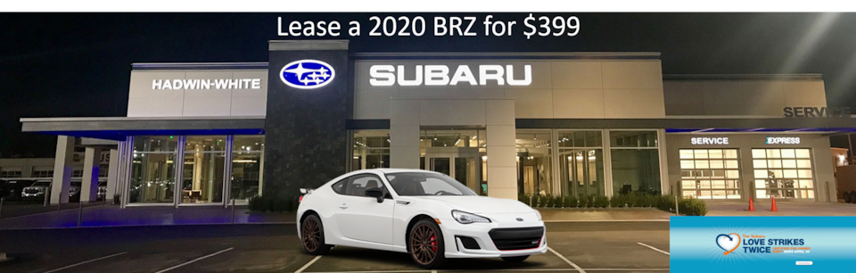 Lease a new 2020 BRZ for $399/Month