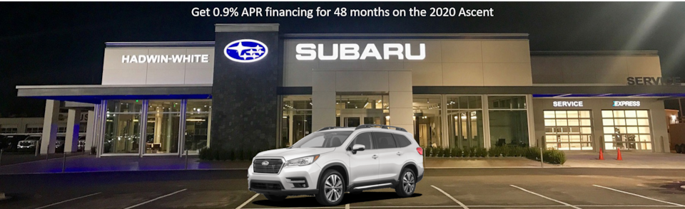 0.9% APR Financing on all new 2020 Ascent Models
