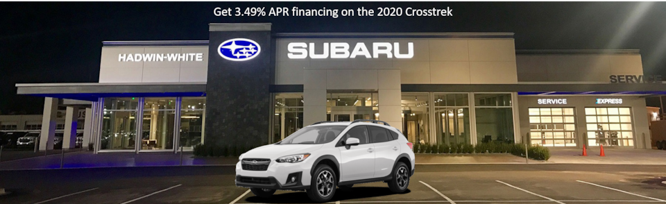 3.49% APR Financing on all new 2020 Crosstrek Models