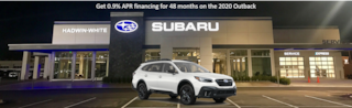 0.9% APR Financing on select new 2020 Outback Limited Models