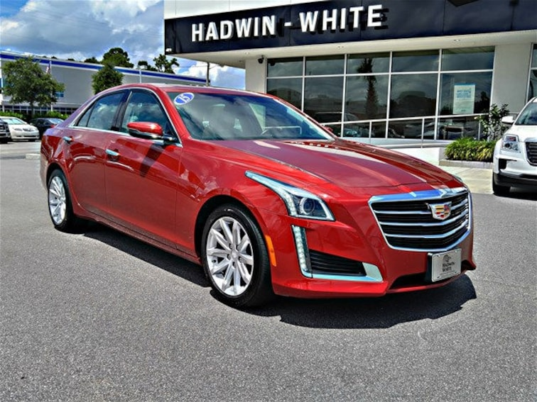 Used 2015 Cadillac Cts 3 6l Luxury Red Obsession Tintcoat For Sale