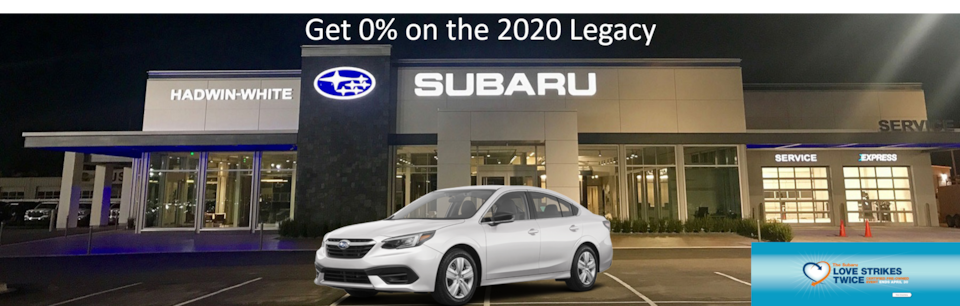 0% APR Financing for 63 mos. on all new 2020 Legacy Models