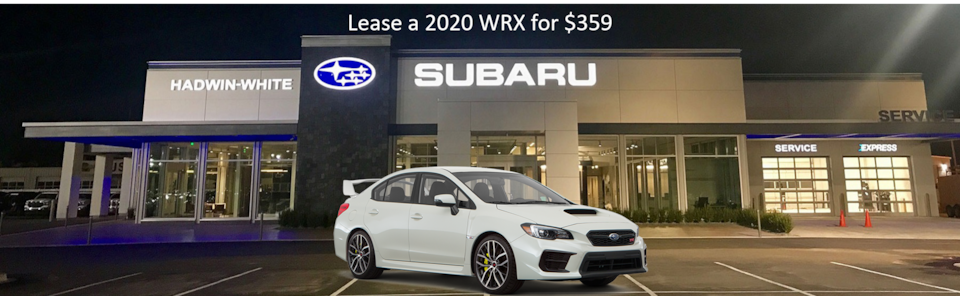 Lease a new 2020 WRX for $359/Month
