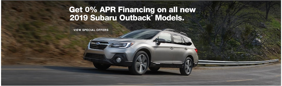 0% APR Financing on all new 2019 Outback Models