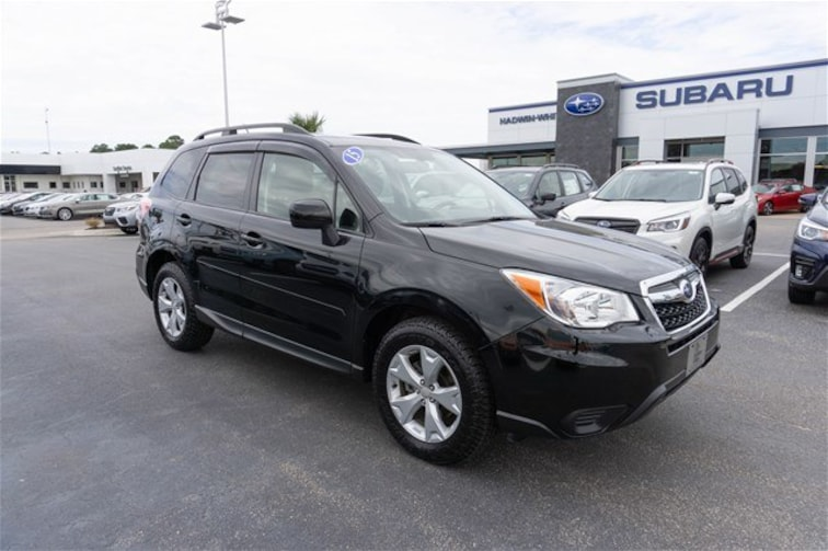 Certified Pre Owned 2015 Subaru Forester 2.5i Premium SUV 9724C for sale near Garden City