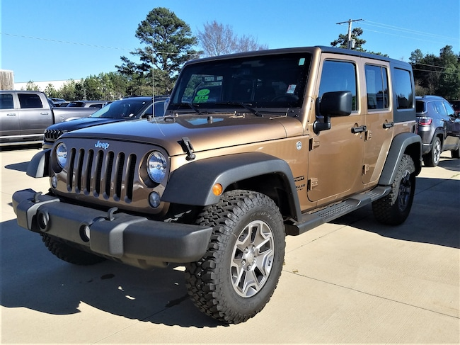 Certified pre-owned 2015 Jeep Wrangler Unlimited Sport 4x4 SUV for sale in Morrilton, AR