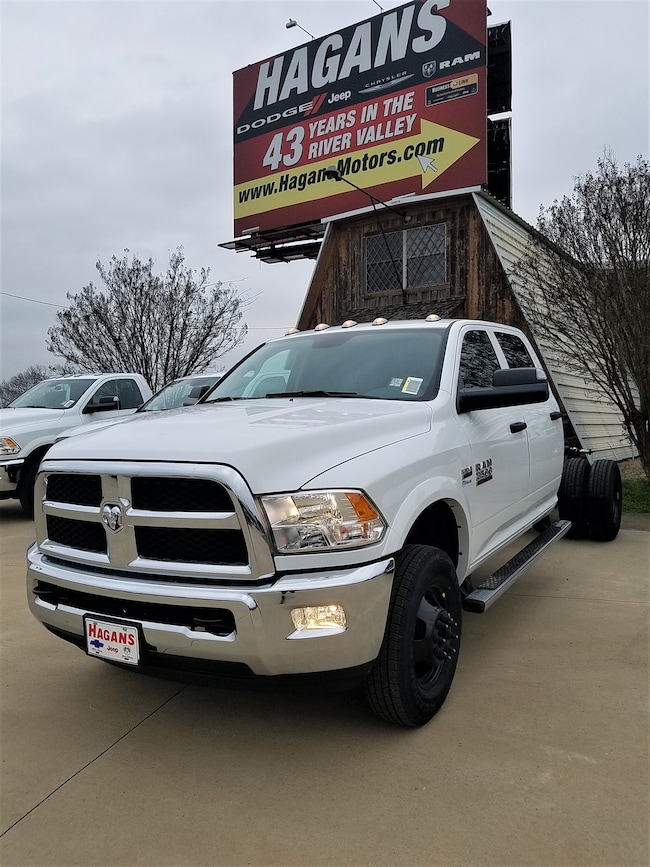 New vehicle 2018 Ram 3500 TRADESMAN CREW CAB CHASSIS 4X4 172.4 WB Crew Cab For sale near you in Morrilton, AR