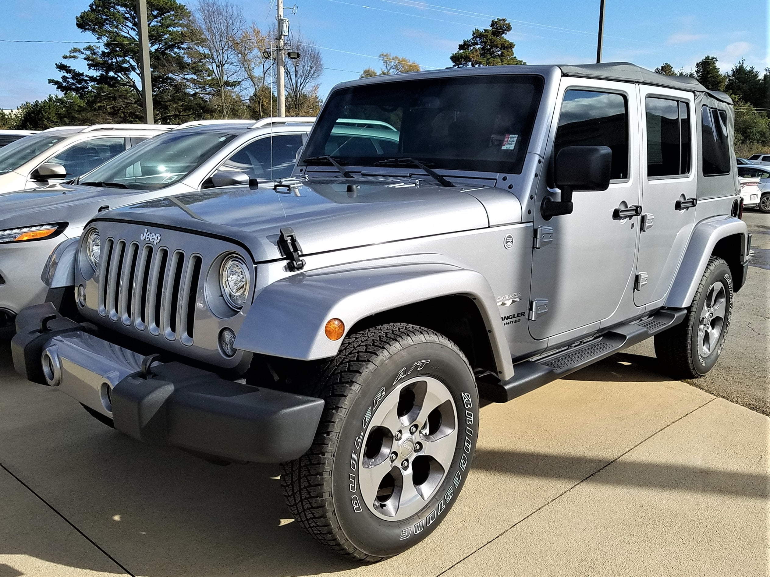 Featured used vehicles 2017 Jeep Wrangler JK Unlimited Sahara 4x4 SUV for sale near you in Morrilton, AR
