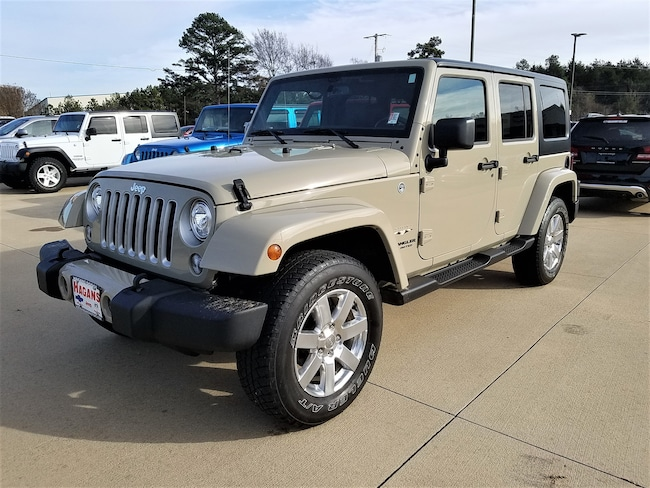 Certified pre-owned 2017 Jeep Wrangler JK Unlimited Sahara 4x4 SUV for sale in Morrilton, AR