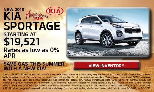 August 2019 Kia Sportage Offers