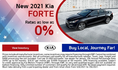 New 2021 Kia Forte- May Offer