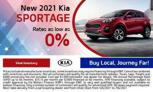 New 2021 Kia Sportage- May Offer
