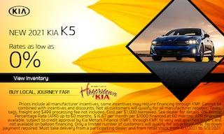 New 2021 Kia K5 - April APR Offer