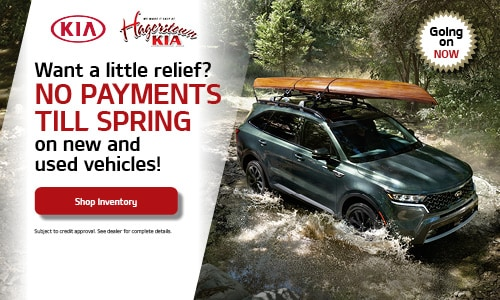 Want a little relief? NO PAYMENTS TILL SPRING on new and used vehicles!