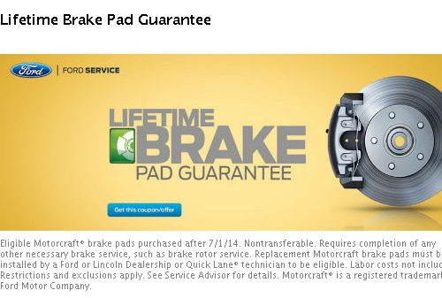 Brake Service Coupons >> Service Coupons Haldeman Ford Lincoln Inc