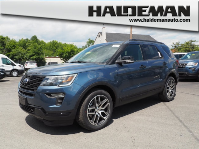 New 2018 Ford Explorer Sport SUV for sale in East Windsor, NJ at Haldeman Ford Rt. 130