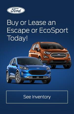 Escape and EcoSport Inventory
