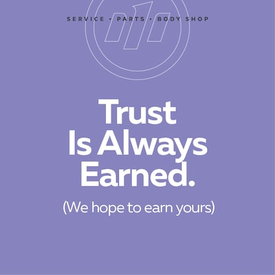 Trust Is Always Earned.