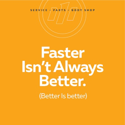 Faster Isn't Always Better.