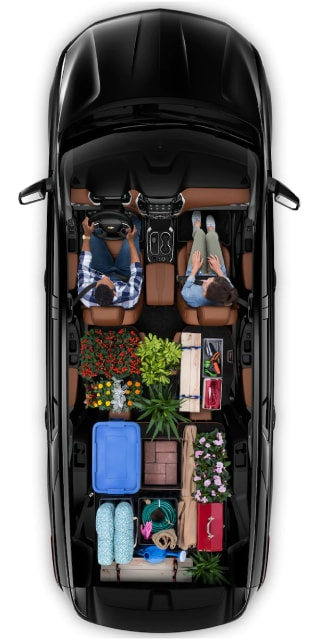 Top down view of Traverse with Cargo inside