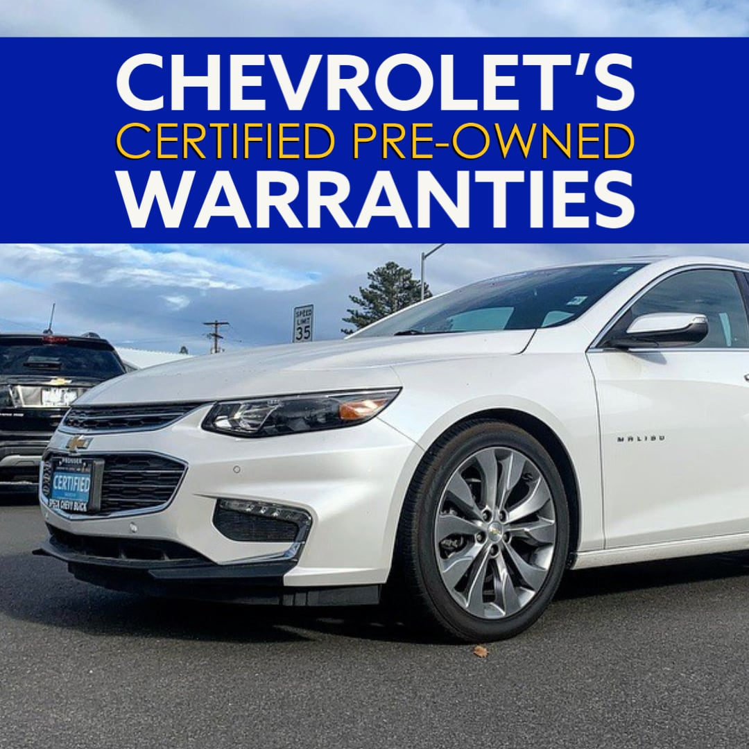 """Used Chevrolet Malibu Close-up with title """"Chevrolet's Certified Pre-Owned Warranties"""""""