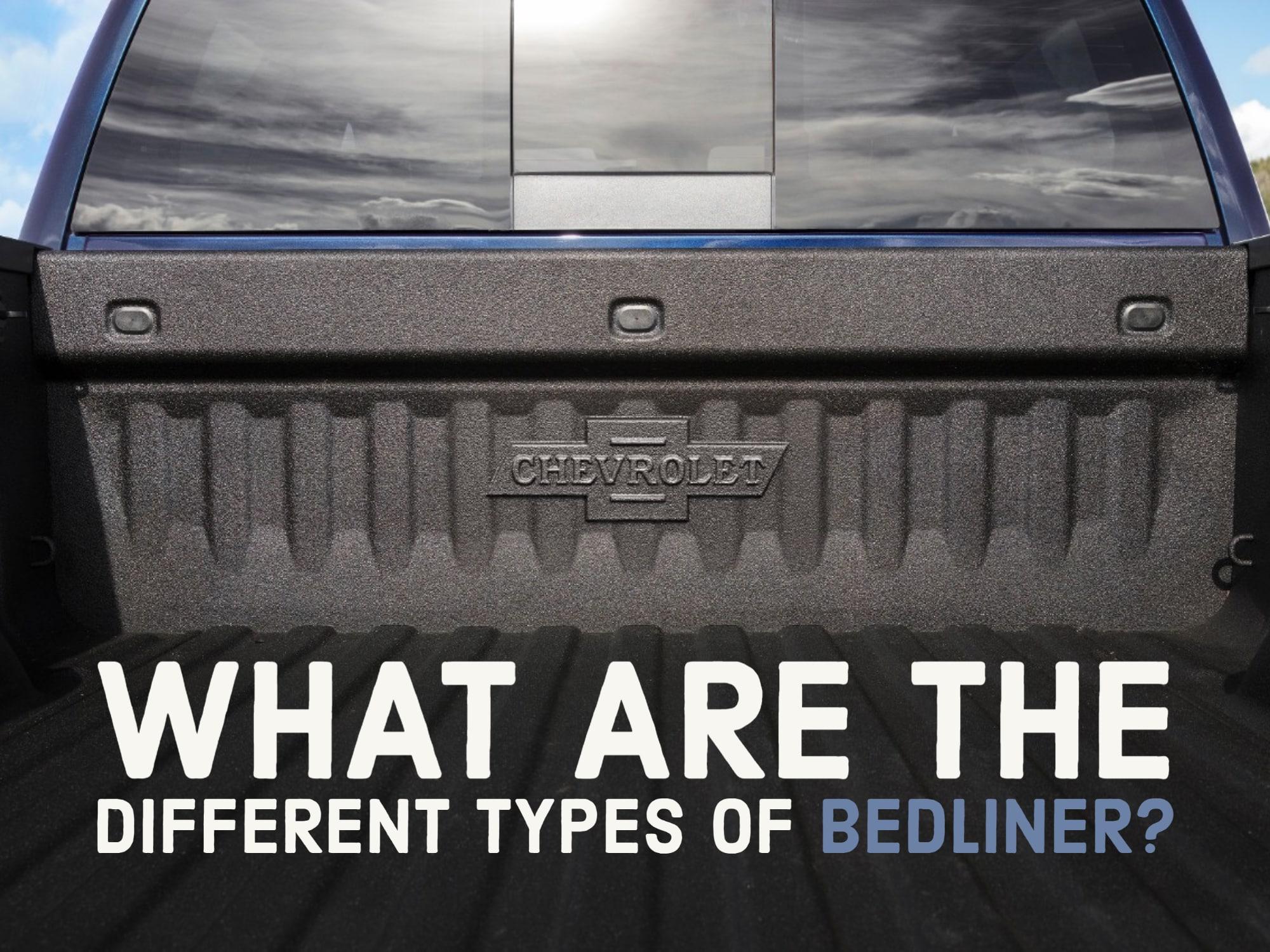 Chevrolet truck bed open with Chevrolet Heritage logo on bedliner