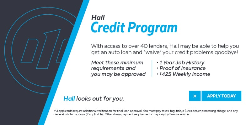 Welcome To The Hall Credit Program