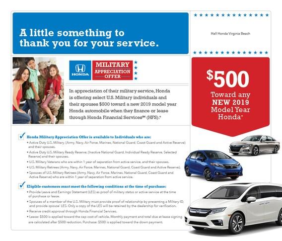 Hondafinancialservices Online Payment >> Military Appreciation Hall Honda Virginia Beach