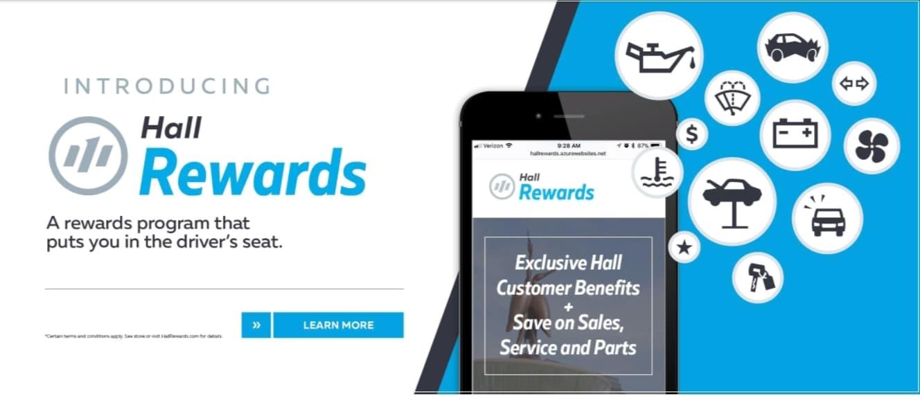 Hall Hyundai Elizabeth City   The Hall Rewards Program