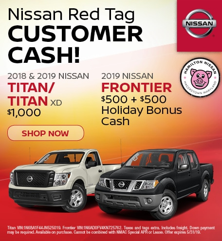 2019-Nissan Red Tag Titan and Frontier-May