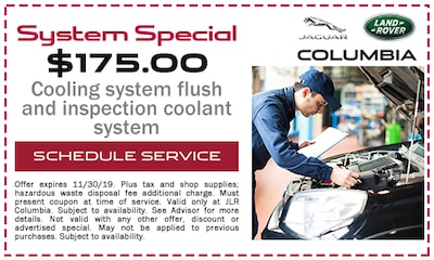Cooling system flush and inspection coolant system $175.00