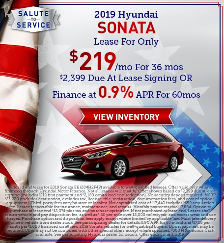 May 2019 Sonata Lease