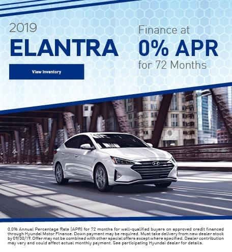 September 2019 Elantra APR