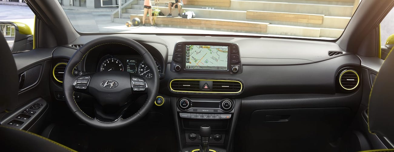 2020 Hyundai Kona interior dashboard design