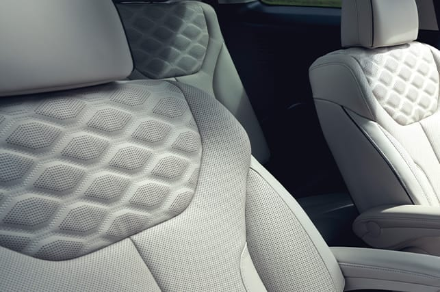 2020 Hyundai Palisade quilted nappa leather seats
