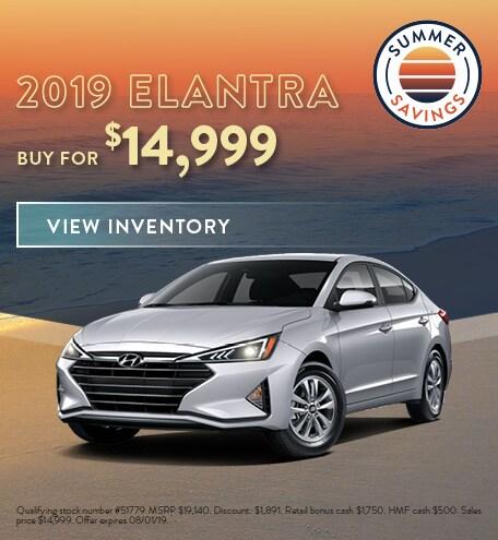 July 2019 Hyundai Elantra