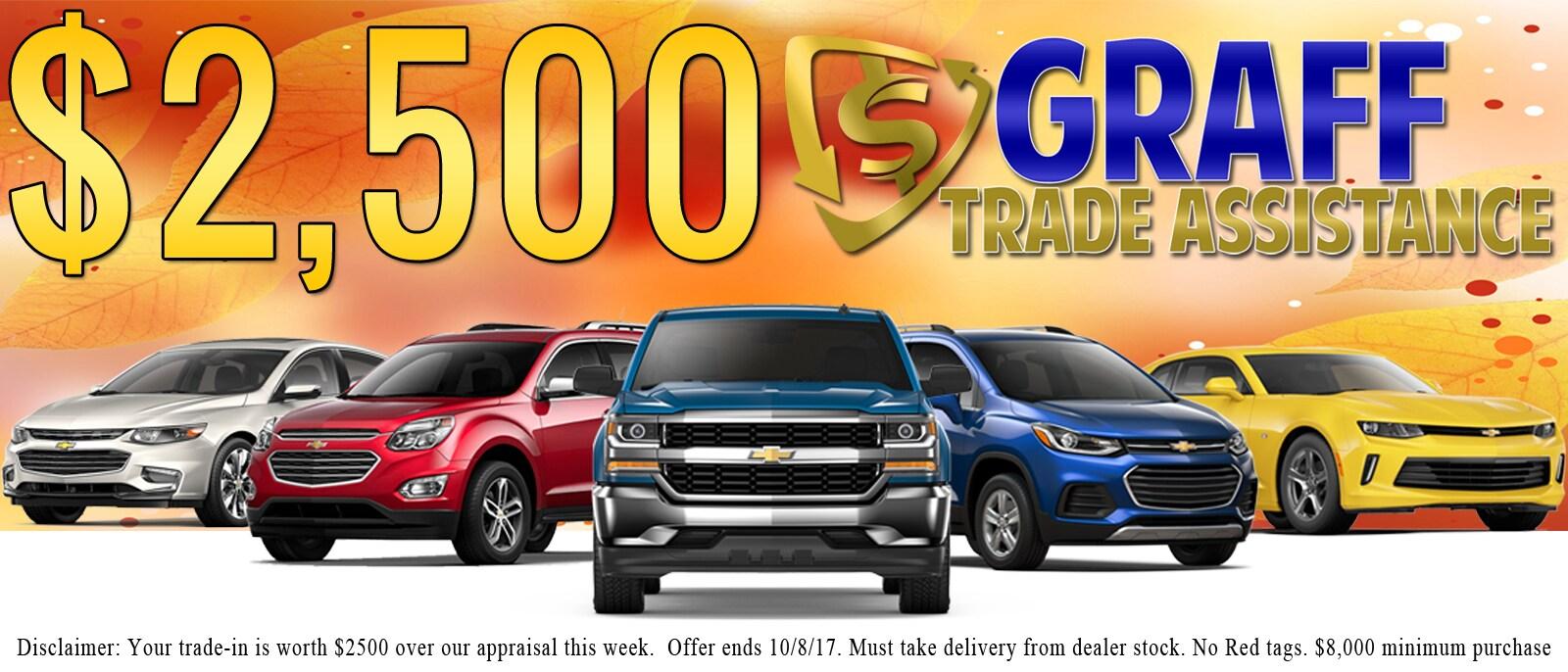 Trade istance $2,500 | Davison, MI | Hank Graff Chevrolet