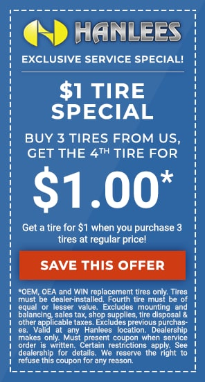 $1 tire special