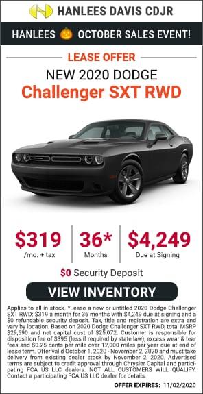Lease - New 2020 Dodge Challenger SXT RWD