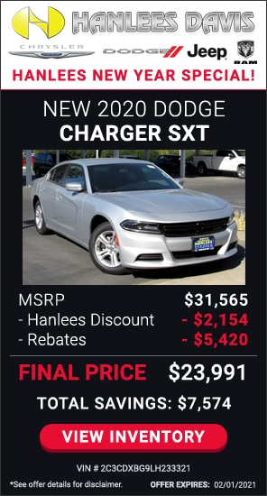Total Savings: $7,574 - New 2020 Dodge Charger SXT