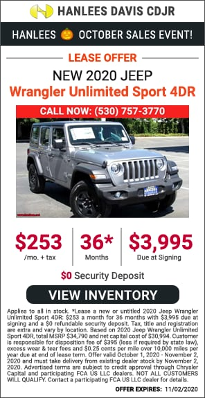 Lease - New 2020 Jeep Wrangler Unlimited Sport 4DR