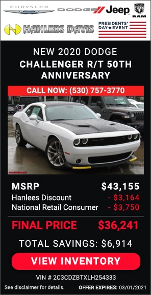 Up to $6,914 off MSRP - New 2020 Dodge Challenger R/T 50th Anniversary