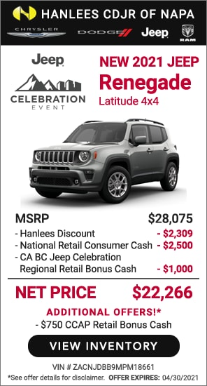 New 2021 Jeep Renegade Latitude 4x4