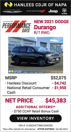 New 2021 Dodge Durango R/T RWD
