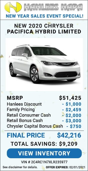 Up to $9,209 off MSRP - New 2020 Chrysler Pacifica Hybrid LIMITED
