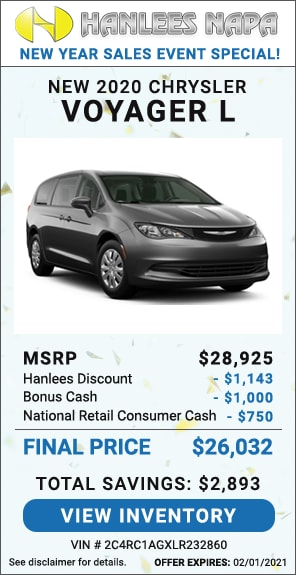 Up to $2,893 off MSRP - New 2020 Chrysler Voyager L