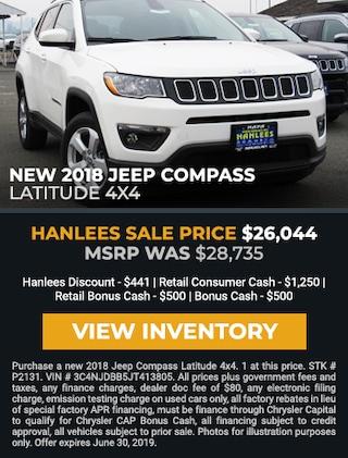 New 2018 Jeep Compass Latitude 4X4