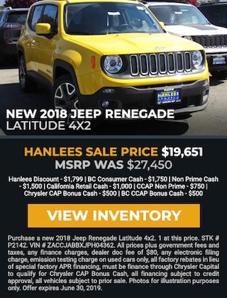 New 2018 Jeep Renegade Latitude 4x2