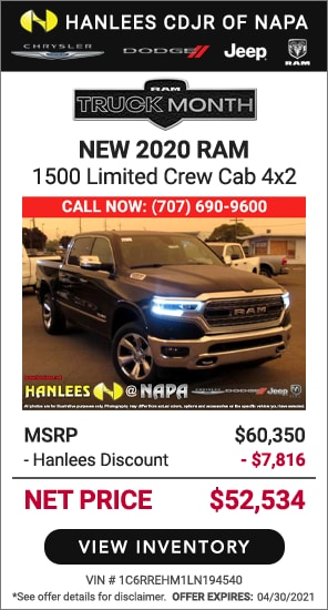 New 2020 Ram 1500 Limited Crew Cab 4x2