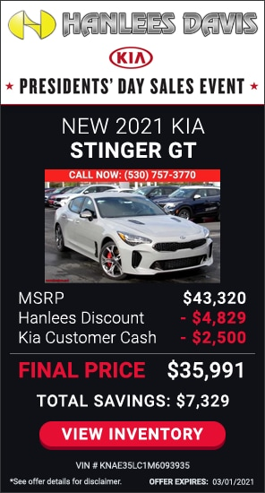 Up to $7,329 off MSRP - New 2021 Kia Stinger GT
